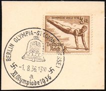 GERMANY BERLIN OLYMPIA-STADION (PRESSE) 1/08/1936 - OLYMPIC GAMES BERLIN 1936 - FRAGMENT - GYMNASTICS STAMP