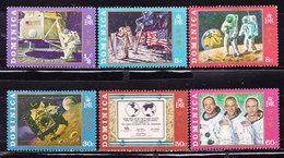 1° Uomo Sulla Luna Dominica 1970-Serie Completa Nuova MNH**