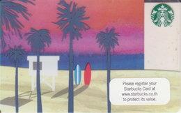 "Thailand Starbucks Card ""Beach"" 2015 - 6118 - Gift Cards"