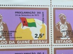 Guiné-Bissau Guinea 1973 1974 ERROR VARIETY Moved Flag Mi. 346 Republic History Politics Map Karte Flagge Fahne Drapeau - Guinée-Bissau
