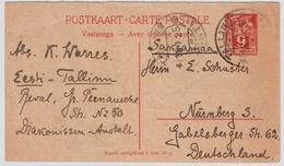 1925, Frage- GSK 9 Mk., Bedarf ,scarce Statoonary ! #8142 - Estland