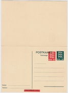 Stationary 50 And 5 S., Double Card , #8143 - Estland