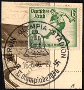 GERMANY BERLIN OLYMPIA-STADION 16/08/1936 - OLYMPIC GAMES BERLIN 1936 - FRAGMENT - FOOTBALL STAMP