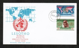 LESOTHO  Scott # 45-6 ON FIRST DAY COVER (8/VI/68) - Lesotho (1966-...)