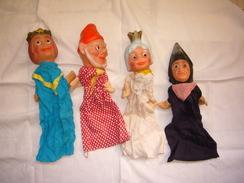 Lot De 4 Marionnettes à Main Années 50/60 - Puppets