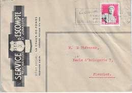 260 SUR LETTRE - LOGO PRIVE - SERVICE D'ESCOMPTE NEUCHATELOIS ET JURASSIEN - 1944 - Svizzera