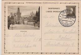 Tchécoslovaquie Entier Postal Illustré Pour L'Allemagne 1936