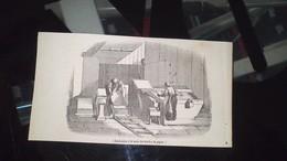 Affiche (gravure) - FABRICATION A LA MAIN DES FEUILLES DE PAPIER - Affiches