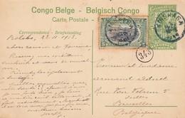 CONGO BELGE. CARTE. 23 11 1913. INSPECTION DE LA FORCE PUBLIQUE A IREBU. ECRITE DE BOLOBS? TAMPOIN KINSHACHA. POUR BRUXE