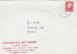 Envelop 6 Okt 1977 Baarn 2 (stempeltype Openbalk) - Storia Postale