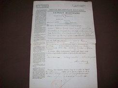 Service Des Hôpitaux Militaires Commune De Beaune 1840  Extrait Mortuaire - Documentos