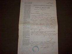 Service Des Hôpitaux Militaires Commune De Bordeaux 1842  Extrait Mortuaire - Documentos