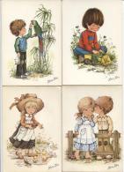 CPM - Fantaisie Illustrée MARY MAY - SCENE ENFANTINE - Lot De 4 Cartes - Edition Espagne - Kinder-Zeichnungen