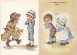 CPM - Fantaisie Illustrée CONSTANZA - SCENE ENFANTINE - Lot De 2 Cartes - Edition C.Y.Z - Kinder-Zeichnungen