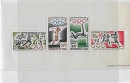 Bloc Feuillet Olympiques De Tokyo - Tsjaad (1960-...)