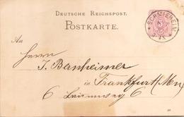 Allemagne Entier Postal De Schmieheim Du 8 Juillet 1887 - Germany