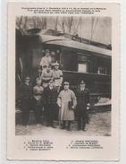 Foch Part Pour Paris Remettre Le Texte De L'Armistice Signé Avec L'Allemagne. Foch, Wemyss, Weygand, Hope, Marriott,  .. - Oorlog 1914-18