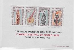 "Bloc Feuillet  1er Festival Mondial Des Arts Nègres ""Dakar 1er-24 Avril 1966 - Senegal (1960-...)"