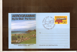 Aérogramme From Norfolk Island (to See) - Ile Norfolk
