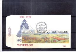 FDC Belgique - Napoléon - Bataille De Waterloo