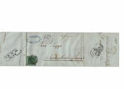 LCTN47/5 - ALLEMAGNE ANCIENS ETATS - BADE LAC DURLACH / NECKARBISHOPFSHEIM 24/7/1858 - Baden