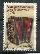 ANDORRA ESPAÑOL 2014. (accordéon Bi-sonore) L´Accordéon Diatonique, Un T-p Oblitéré , 1 ère Qualité - Gebraucht