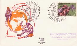 43-Marcofilia-Annullo Speciale-Tema:Storia-Cesena (FO) 1972-La Storia Dei Popoli-(dall'uomo Primitivo All' Astronauta). - 6. 1946-.. Repubblica