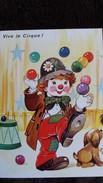 CPM VIVE LE CIRQUE  CLOWN JONGLEUR CHIEN  BALLES SERIE 5556 4/1 - Zirkus