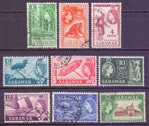 Sarawak Scott 197/206 - SG188/197, 1955 Elizabeth II Set To 25c Used - Sarawak (...-1963)