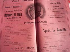 Calais. Union Nationale Des Combattants Section Pont Du Leu. Invitation Grand Bal11 Décembre1932. Rare. - France