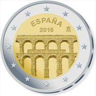 SPANIEN 2 Euro 2016 Segovia - UNC Aus Rolle - Espagne