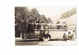 Carte Photo - 38 - Grande Chartreuse - Isère - Autobus Gros Plan Décapotable Animation - 1935 - Bus & Autocars