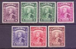 Sarawak Scott 109/117 (various) - SG106/111a (various), 1934 Sir Charles Vyner Brooke Lot To 6c MNH** - Sarawak (...-1963)