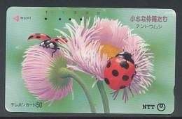 JAPAN  Telefonkarte- Tiere, Insekten, Käfer - Coccinelle