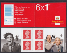 GB ~ 2015 ~ Comedy Greats ~ Booklet Of Six ~ SG PM47 ~ MNH - Booklets
