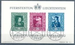 """ET Block  """"5.Liechtensteiner Briefmarkenausstellung, Vaduz""""             1949"""