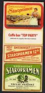 Croatia Zagreb 2017 / Price List Caffe Bar Top Party / Beer Staropramen - Prague - Other