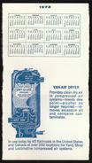 United States / Small Calendar 1972 / VAN-AIR DRYER Advertising / Railroads - Publicités