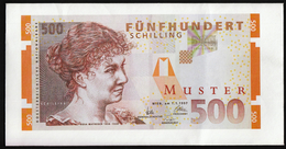 Austria 1. 1. 1997. / 500 Schilling / Muster Envelope - Münzen