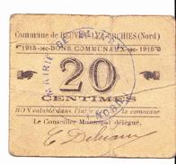 BON De 20c Commune BEUVRY-lez-ORCHIES(nord) 1915 - Bons & Nécessité