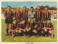 Equipe De Football - OGC Nice - Olympique Gymnaste Club Nice Côte D'Azur - Années 1950 (18x24cm) - Alte Papiere