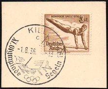 GERMANY KIEL 1/08/1936 - OLYMPIC GAMES BERLIN 1936 - SAILING - TYPE C - FRAGMENT