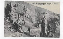 (RECTO / VERSO) DE BRIANCON A ABRIES - N° 1599 - LA CASSE DESERTE - ROUTE DU COL D' IZOARD - CPA VOYAGEE - Autres Communes