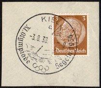 GERMANY KIEL 3/08/1936 - OLYMPIC GAMES BERLIN 1936 - SAILING - TYPE A - FRAGMENT