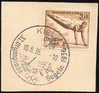 GERMANY KIEL 10/08/1936 - OLYMPIC GAMES BERLIN 1936 - SAILING - FRAGMENT