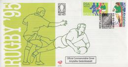 Enveloppe  FDC  1er  Jour    AFRIQUE  DU  SUD     Coupe  Du  Monde  De  RUGBY     1995