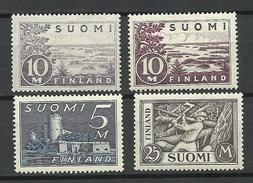 FINLAND FINNLAND 1930 Michel 155 - 157 Incl Mi 156 In 2 Various Plates * - Nuovi