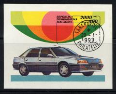 MADAGASCAR 1993, AUTOMOBILE RENAULT 25, 1 Bloc, Oblitéré / Used. R372 - Voitures