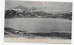 (RECTO / VERSO) MASSIF DU CARLITTE EN 1925 - N° 482  - VUE GENERALE - PETITE COUPURE EN HAUT - BEAU CACHET - CPA VOYAGEE - France