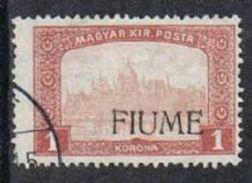 Fiume SG16 1918 Definitive 1k Fine Used [12/12586/7D] - 8. WW I Occupation